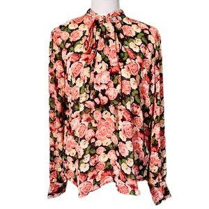 🌟SALE🌟 Forever 21 Floral Rose Print Blouse